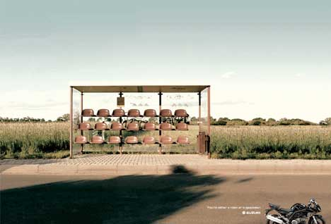 Suzuki Bus Stop print advertisement - Mexico