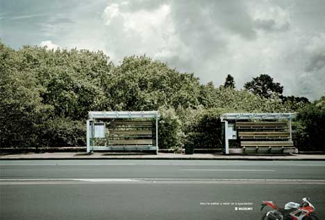 Suzuki Bus Stop print advertisement - New Zealand