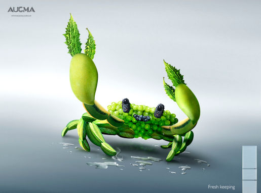 Crab in AUCMA print advertisement