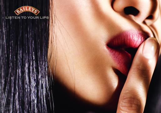 Baileys Lips print advertisement