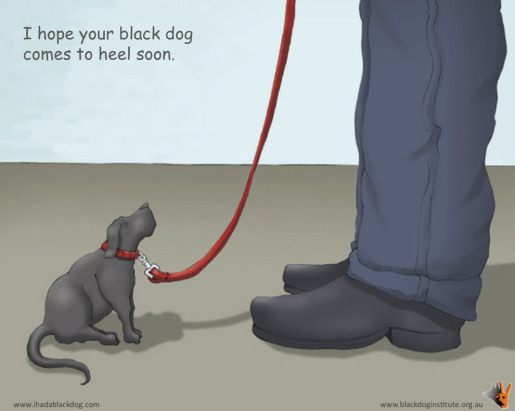 Black Dog Institute Ecard - I hope your black dog comes to heel soon