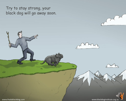Black Dog Institute Ecard - Try to stay strong - your black dog will go away soon