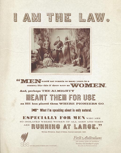 We Are The Law - in SBS First Australians print advertisement