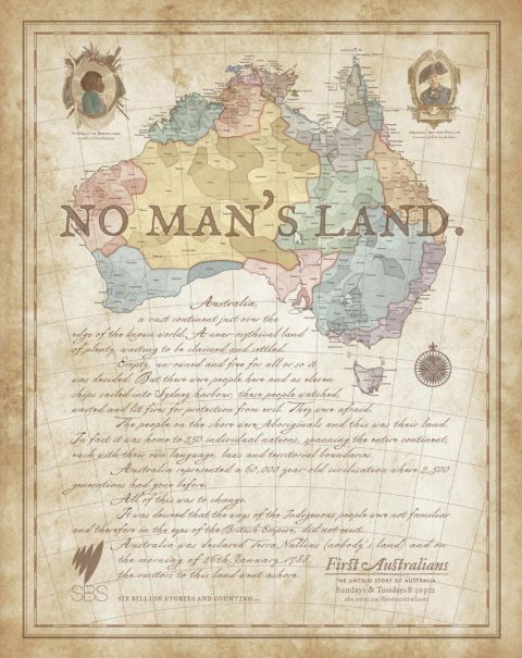 No Man's Land Map SBS First Australians print advertisement
