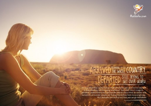 Tourism Australia print advertisement