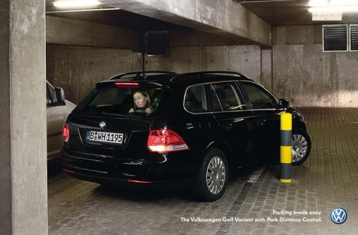 Volkswagen Golf in Parking Made Easy print advertisement