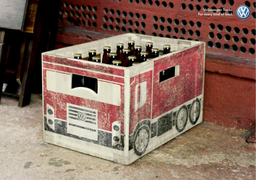 VW Trucks Beer Carton