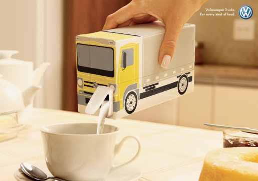 VW Trucks Milk Carton