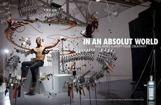 Absolut Quartet print advertisement