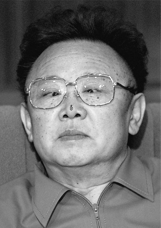 Kim Jong Il in Amnesty International print advertisement