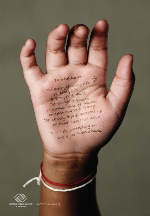 Taylor's Poetry in Boys and Girls Clubs of Boston In These Hands print advertisement