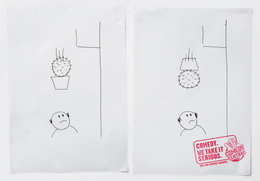 Cactus in MTV Comedy Central print advertisement