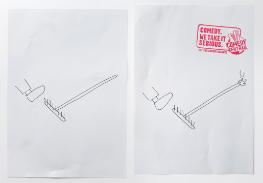 Rake in MTV Comedy Central print advertisement
