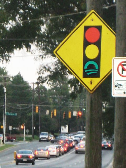 GoBama Traffic Lights decal in Charlotte