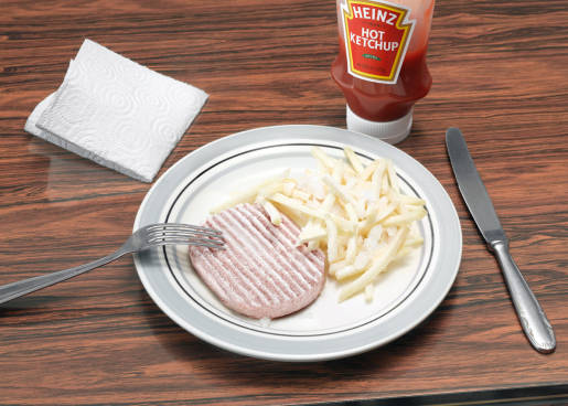 Heinz Hot Ketchup on Frozen Chips