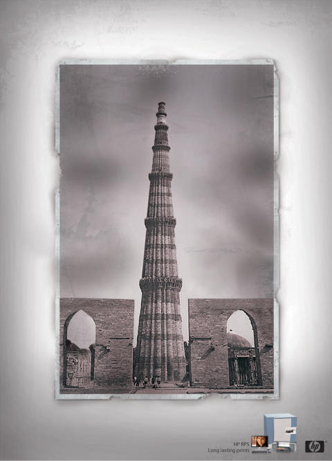 HP Qutb Minar print advertisement