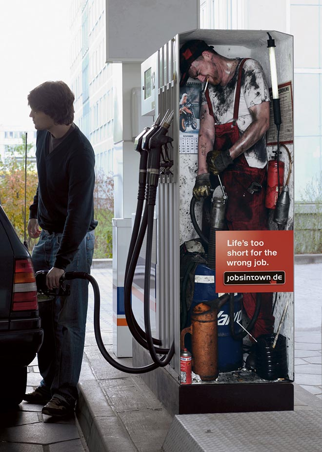 Petrol Pump vendor in jobsintown.de advertisement