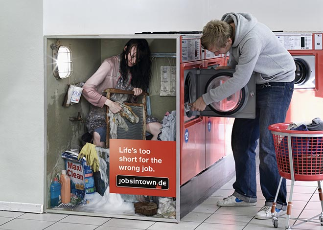 Laundry vendor in jobsintown.de advertisement