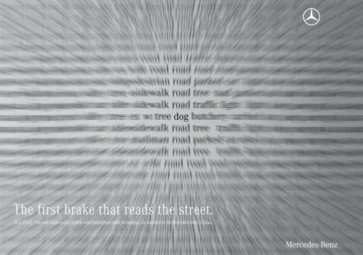Mercedes BAS Plus Dog print advertisement
