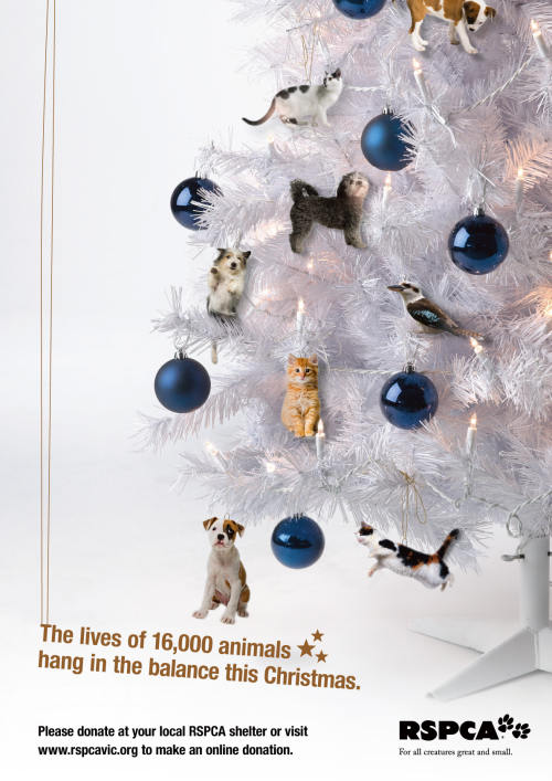 RSPCA Christmas Tree with Pets