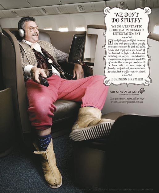 We don't do stuffy - Air New Zealand ug boots