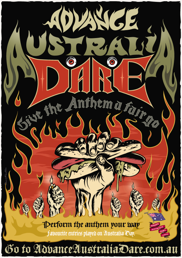 Advance Australia Dare Metal