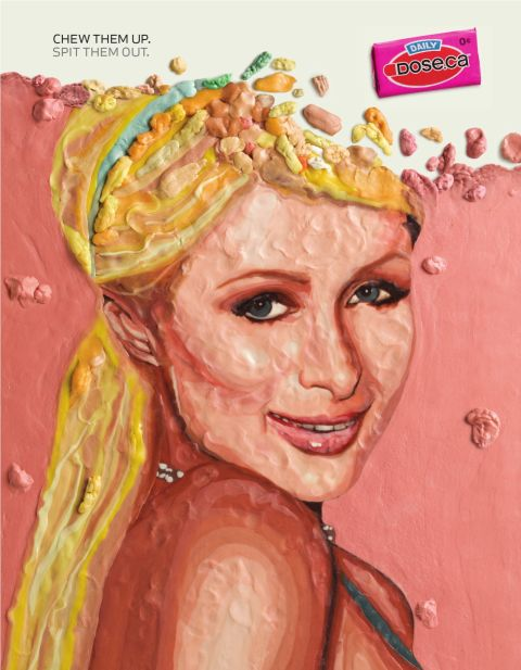 Dose.ca Paris Hilton print advertisement