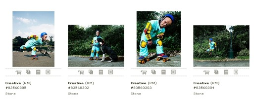 Getty Images commissioned photos of Dwarf on Roller Skates