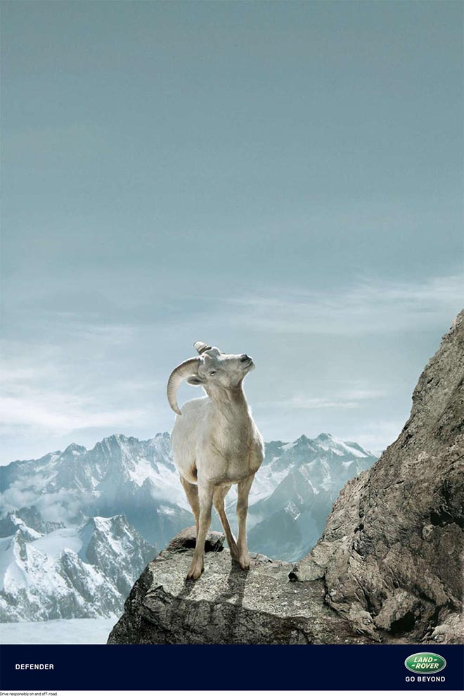 Land Rover Mountain Goat print advertisement
