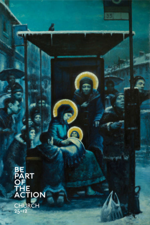 Nativity in the Bus Shelter by Andrew Gadd