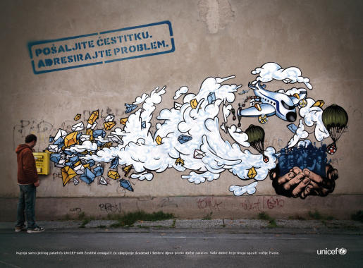 UNICEF graffiti