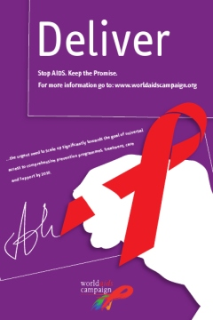 World AIDS Campaign Deliver postcard