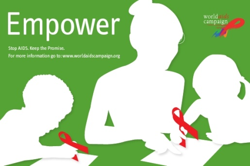 World AIDS Campaign Empower postcard