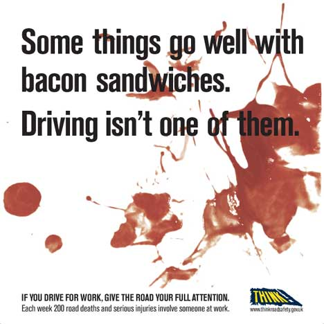 Bacon and driving don't mix
