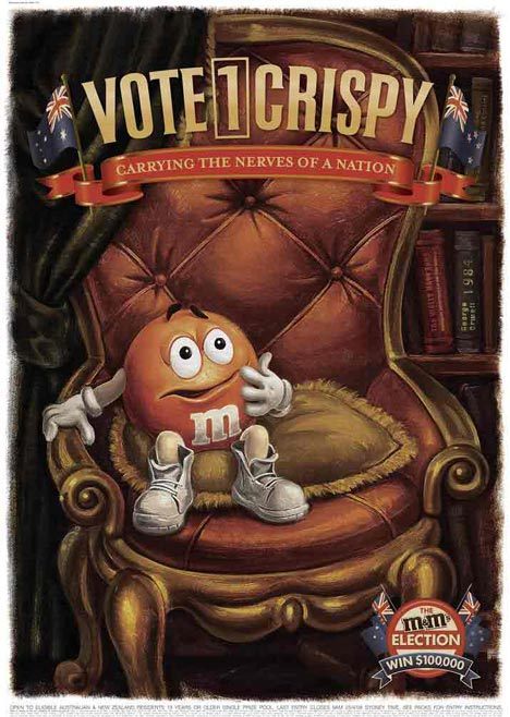 M&M Elections Vote Crispy