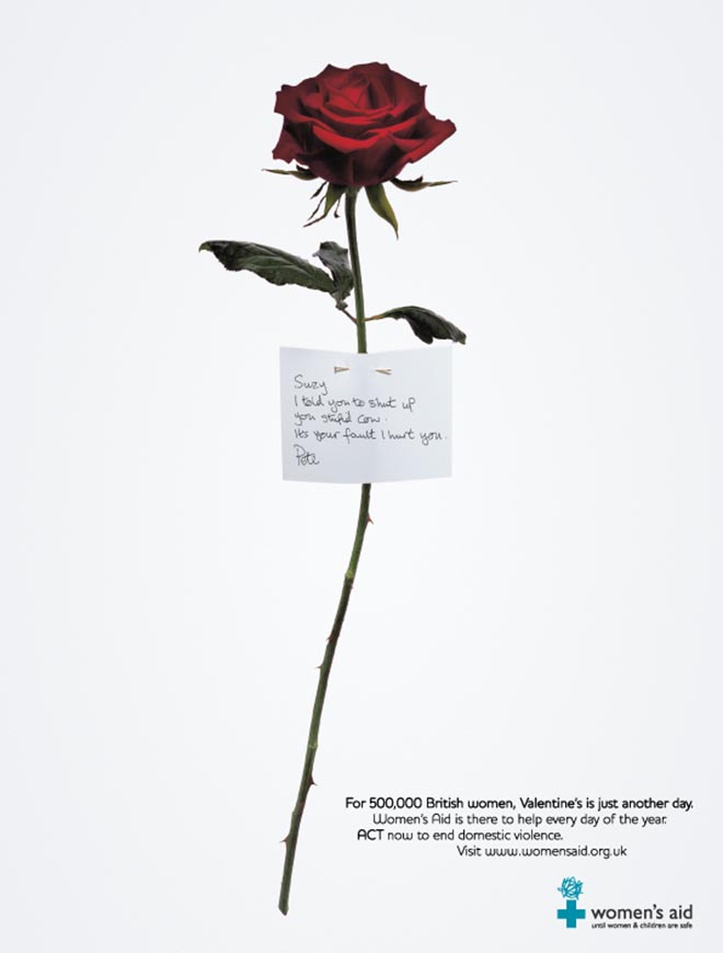 Womens Aid Rose print advertisement