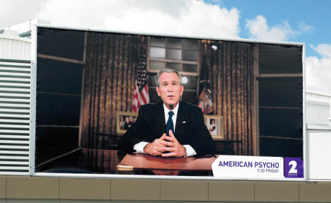 George Bush in American Psycho billboard advertisement