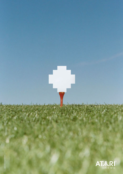 Golf ball in Atari print ad