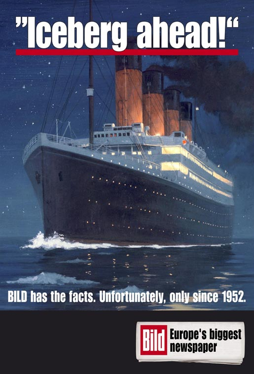 Bild Titanic Warning