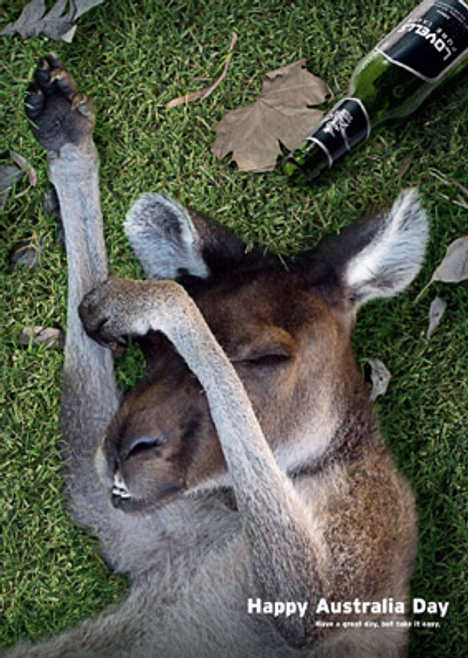 Kangaroo in Lovells Beer print advertisement