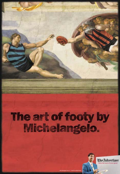 Michelangelo AFL creation of Adam