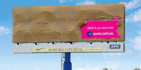 Seek Billboard in Sydney