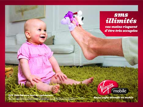 Virgin Mobile Toe Puppets