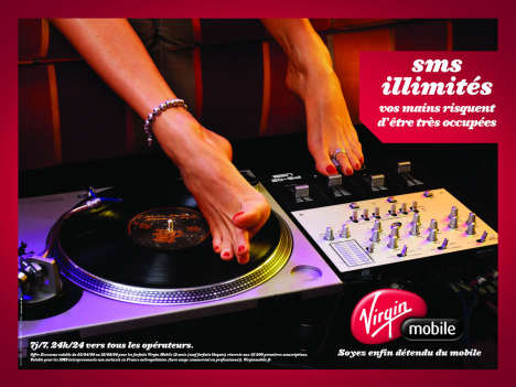 Virgin Mobile Turntable Toes