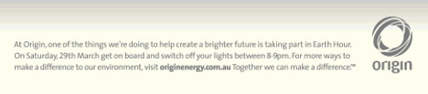 Origin support for Earth Hour 2008