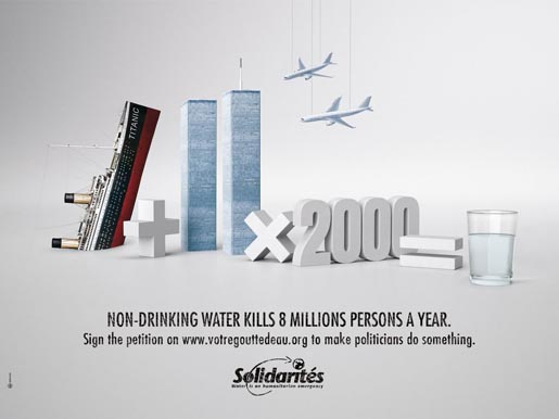 Solidarites Titanic & September 11 print ad