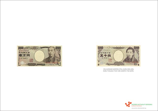 Women Without Borders Japan Yen notes show pay disparity