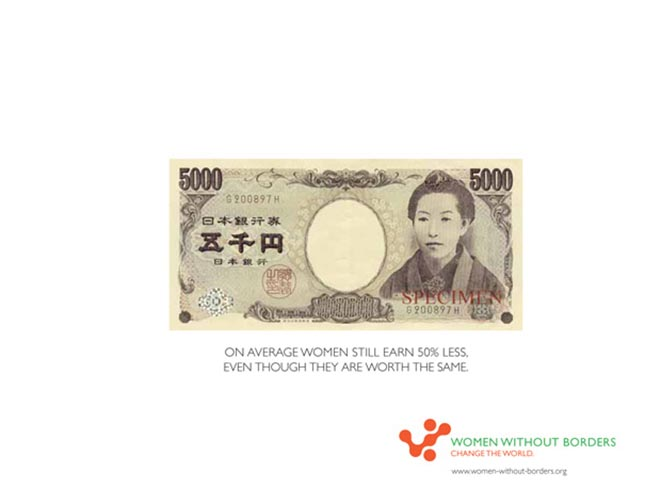 Japanese Yen note Why do women often only earn half, even though they are worth the same?