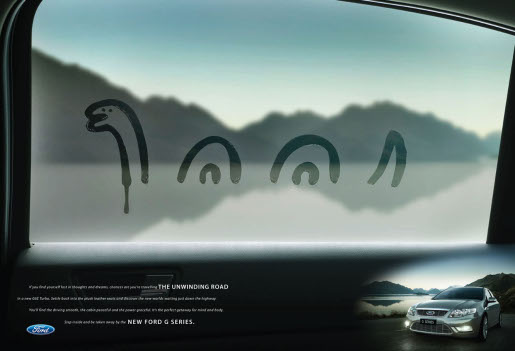 Ford G Series Fingers in Loch Ness print advertisement