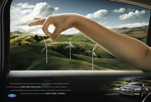 Ford G Series Fingers in Windmill print advertisement